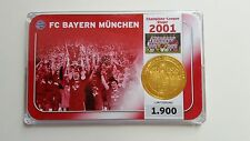 MÜNZE / MEDAILLE  FC BAYERN MÜNCHEN   CHAMPIONS LEAGUE SIEGER 2001  VERGOLDET