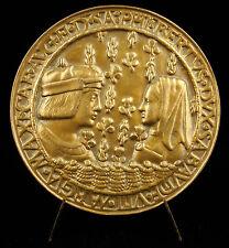 Médaille Marguerite d'Autriche & Philibert II armes & devise Duc de Savoie medal