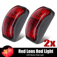 2x 12-24V 2 LED CLEARANCE Side Marker Light RED Truck Trailer Caravan 54mmx24mm