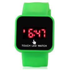 LED Toque Digital Pantalla Reloj De Pulsera Para Hombre Mujer Unisex Escuela
