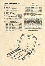 Official Pizza Box US Patent Art Print - Official Pizzeria Restaurant Box - 338