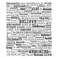 Crafty Individuals UPLIFTING WORDS Individual Collage Style Red Rubber Stamp