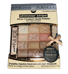 (1) Physicians Formula Shimmer Strips All-in-1 Custom Nude Palette, 6241