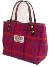 Pink Harris tweed handbag tartan bag womens gift