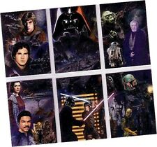 """Star Wars Galaxy Series 5 (Five)- 6 Card """"Etched-Foil"""" Chase Set Corroney Miller"""