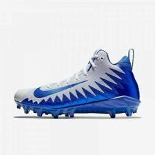 Mens NIKE Alpha Menace Pro Mid Football Cleat 871451 144  ROYAL BLUE WHITE sz 10