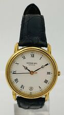 Rare Raymond Weil Geneve 5532 Roman Numeral Gold Tone Vintage 30mm Watch