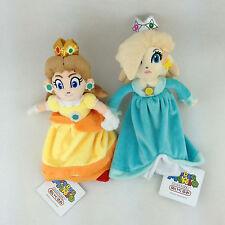 "2X Super Mario Bros Galaxy Plush Soft Toy Doll New Princess Daisy 7"" Rosalina 8"""