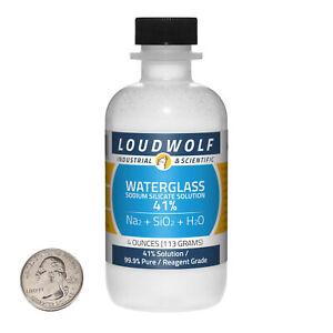 Sodium Silicate / 4 Ounce Bottle / 99.9% Pure Reagent Grade / 41% Solution / USA