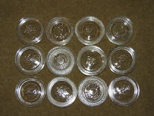 12 GLASS CANNING JAR LID INSERTS REG. SIZE ~ BALL ATLAS ~ RINGS NOT INCLUDED