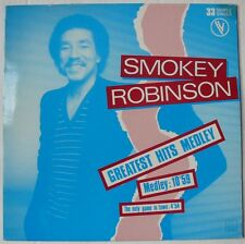 "SMOKEY ROBINSON  (Maxi 33T 12"")  GREATEST HITS MEDLEY   LIMITED EDITION"