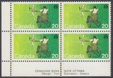 Canada - #694 Handicapped Olympics Plate Block - MNH