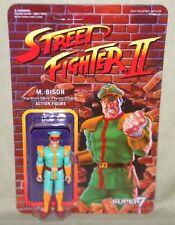 "GREEN M. BISON Street Fighter II Champion Variant ReAction Super7 3.75"" Figure"
