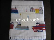 Pottery Barn Kids Train Twin Sheet Set 3-PC Flannel All Aboard NEW
