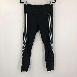 Athleta Side Stripes Salutation Compressive Athletic 7/8 Tight Black Size Small
