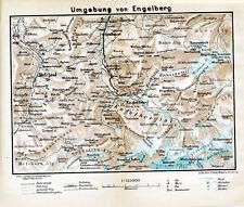 CH Engelberg 1925 kl. orig. Landkarte + Reisef. (4 S.) Grafenort Engstlenalp