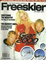 VICTORIA SILVSTEDT Freeskier Magazine October 1999 GEAR 2000 EXPOSED