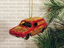 PEACE SIGN '69 VOLKSWAGEN SQUAREBACK VW 1969 RED CHRISTMAS ORNAMENT XMAS