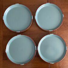 """Set of 4 - Dansk MESA TURQUOISE 10 1/2"""" Dinner Plate"""