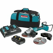 Makita XAG13PT1 5.0Ah 36V Cordless 9-In. Paddle Switch Cut-Off/Angle Grinder Kit
