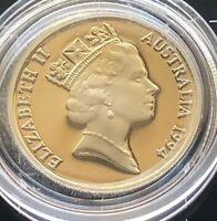 1994 AUSTRALIAN 10 CENT PROOF MINT COIN - UNC IN CAPSULE LOW MINTAGE RARE