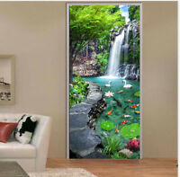 3D Garden Landscape Self adhesive Mural Photo Wallpaper Bedroom Door Sticker