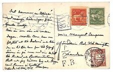 BD46 1924 Scandinavia Sweden GB London Postcard Postage Dues{samwells-covers}PTS