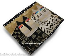 Laurel Burch Wild Cats Gatos Silk SCARF Wrap Black White Beige New
