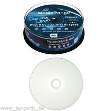 MR474] 1x Spindel Mediarange DVD+R DL 8,5Gb 240Min 8x Double Layer 25 Rohlinge