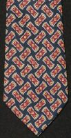 "Gucci Made in Italy Navy Silk Tie with Stirrup Print Beautiful 57"" x 3.25"""