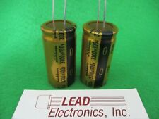 2pcs Nichicon Gold FW 3300uF 100v Radial Electrolytic Capacitor for Audio