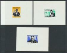"""LIBERIA 1965 CHURCHILL """"IMPERF PROOF SHEETS"""" (3) VF NH (SEE BELOW)"""