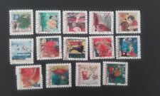 14 TIMBRES COLLECTION COMPLETE MEILLEURS VŒUX 2009 FRANCE