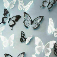 18 Stk Wandtattoo Wandaufkleber Sticker 3D Schmetterling Dekor SchwarzPro X F2P4