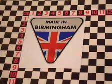 Made in Birmingham Chrome Sticker- Austin Land Rover Mini Allegro A30 A35 Cooper