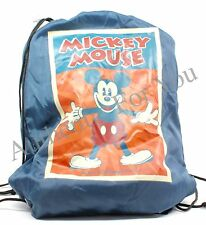NEW Walt Disney World Mickey Drawstring Cinch Backpack w/ Fleece Blanket Throw