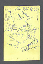 Vintage baseball album sheet signed by 14 with Nellie Fox & Sherm Lollar
