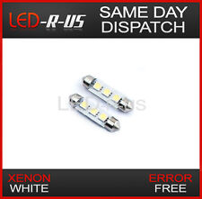 2x 42mm 3 Led Smd Canbus Interior Festoon Luz bombillas Ford Fiesta Mk6 Focus Mk1