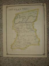 CLAY TOWNSHIP COLUMBIA PENNSYLVANIA ANTIQUE HANDCLR MAP