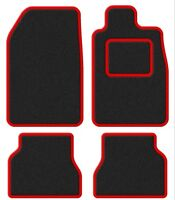 Porsche 944 82-91 Super Velour Black/Red Trim Car mat set
