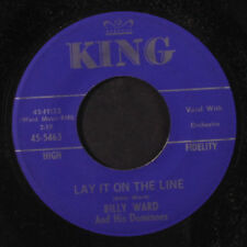 BILLY WARD & DOMINOES: Lay It On The Line 45 (tiny edge chip) Vocal Groups