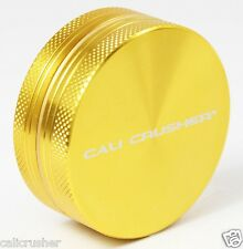 """Cali Crusher Herb, Tobacco and Spice Grinder 2"""" Inch 2 Piece Aluminum New Gold"""