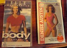 2 VHS Tapes Elle Macpherson The Body Workout & Denise Austin Super Stomachs