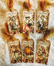 Set of 6 Hang Tags~Fall~Harvest~Thanksgiving~Gift Tags~Scrapbook~Card's~#133R