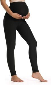 Foucome Women's Maternity Leggings Over The Belly Pregnancy Active Workout Yoga