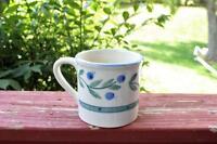 Vintage HARTSTONE Blueberry Band Mug Cup Large 1982 Signed Handpainted Stoneware