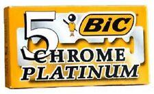 BIC Chrome Platinum Double Edge Safety Razor Blades, 5 Count