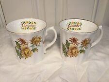 Royal Grafton China Pair of November Mugs