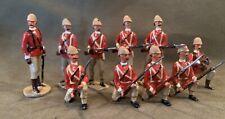 British Regulars, Colonial Wars, Set of 10, 54mm Scale Metal