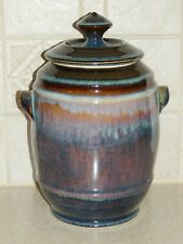 """CAMPBELL AMERICAN STUDIO ART POTTERY LARGE 9 3/4"""" COOKIE JAR SIGNED EXCELLENT!"""